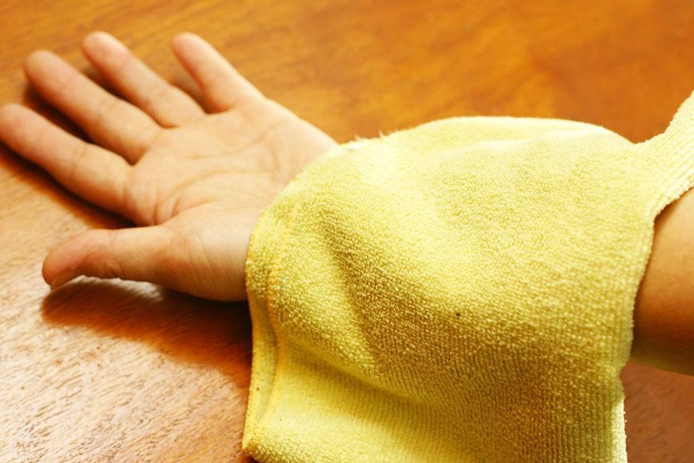 Холодное полотенце при ожоге