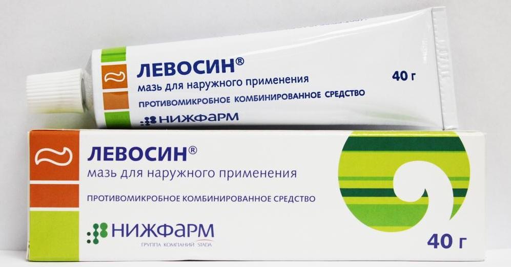 Мазь Левосин для лечения ожогов