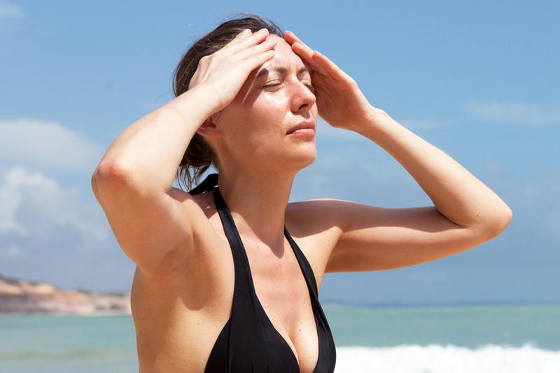 Симптомы при тепловом и солнечном ударе
