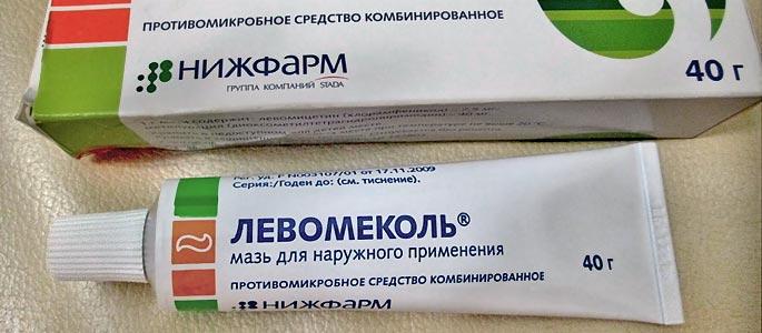 Лечение ожога левомеколем