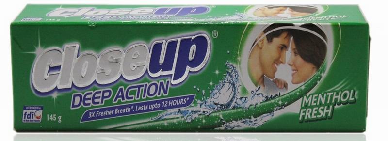 Зубная паста с ментолом