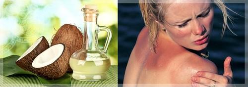 Нанесение масла на кожу