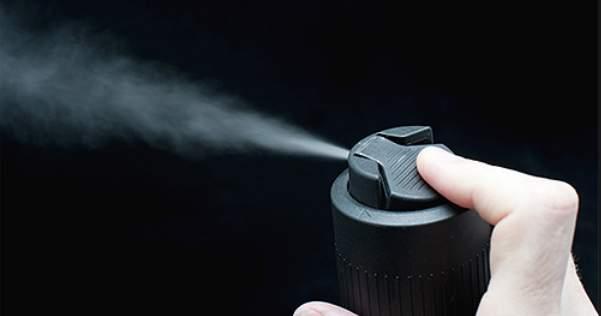 Распыление дезодоранта